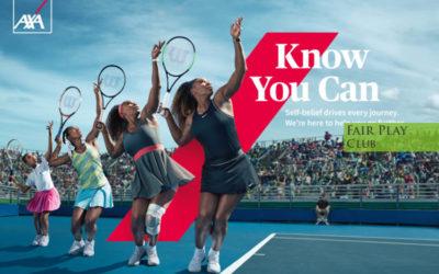 Serena Williams volto di Axa – Know You Can