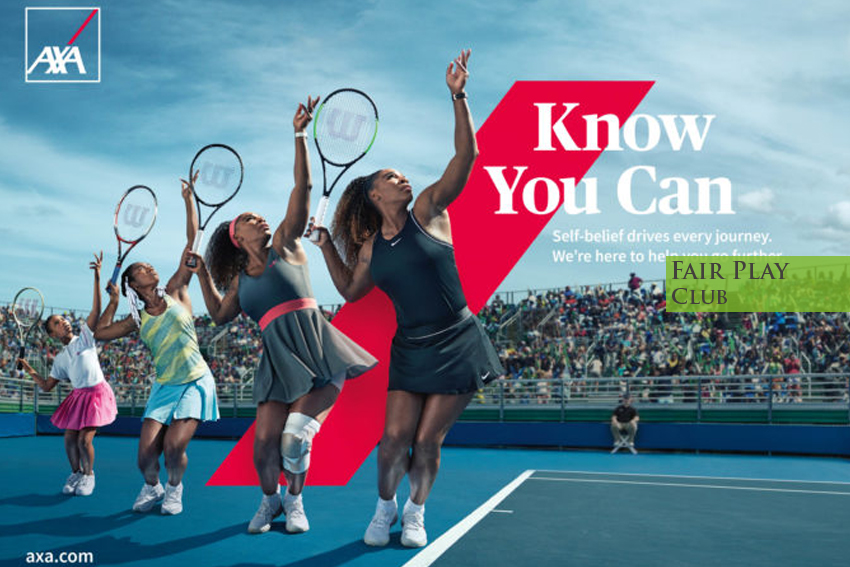 Serena Williams volto di Axa – Know You Can